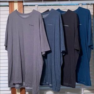 Men's Columbia Omni-wick T-shirt  bundle Size 4XT